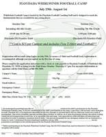 FLOYDADA WHIRLWINDS FOOTBALL CAMP